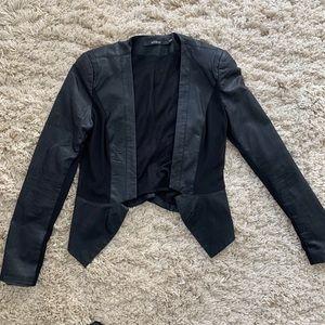 Arm & Co Faux leather blazer